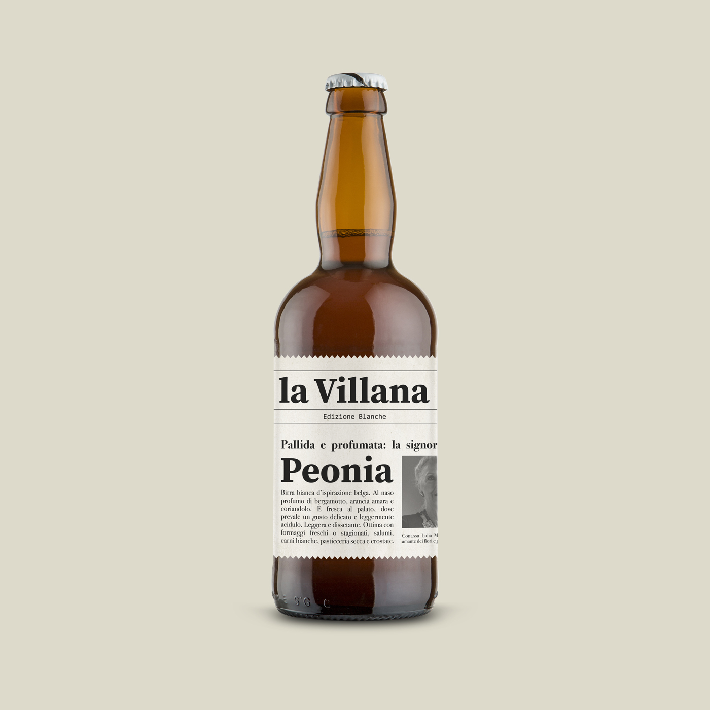 graphic design packaging bottiglia birra